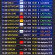 Flight information display screen board at airport of Arrecif — Foto Stock #59132371