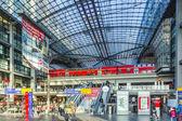 People inside the Berlin Central train station in Berlin, German — Stock Photo