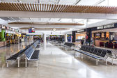 People in departure Hall in Airport of Arrecife — Stock Photo