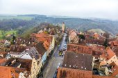 Aerial of  Rothenburg ob der Tauber — Stock Photo