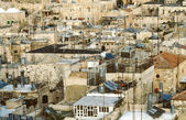 Roof of houses in the old part of old Jerusalem — 图库照片