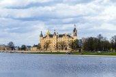 Famoso castello di schwerin, Germania — Foto Stock