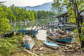 Old abandoned fishermens village — Stock Photo