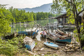 Old abandoned fishermens village in Koh Chang — Stock Photo