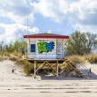 Beach hut with Grafity in Koserow — Stock Photo #60226607