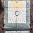 Постер, плакат: Famous old sun dial at the church