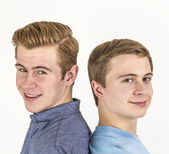 Portrait of handsome brothers  — Stockfoto