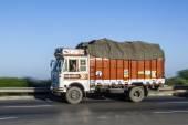 Truck uses the YAmuna express way  — Stock Photo