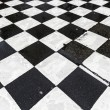 Black and white pattern od squares at the street — Stock Photo #60692537
