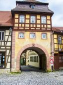 City gate of the old town of Bamberg — Stock Photo