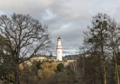Castle Bad Homburg and watchtower  in Hessen, Germany  — Stock Photo