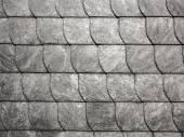 Grey roof slate in harmonic pattern — Stock Photo