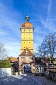 Segringer gate in famous old romantic medieval town of Dinkelsbu — Stock Photo