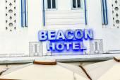Facade of Beacon hotel at Ocean Drive, Miami — Stock Photo