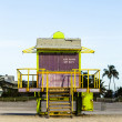 Life guard tower on South Beach, Miami — Stock Photo #61945987