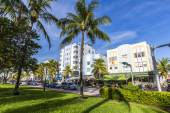 Day view at Ocean drive in Miami — Стоковое фото