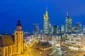view to skyline of Frankfurt with Hauptwache — Stock Photo