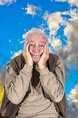 Yaşlı komik adam emekli — Stok fotoğraf