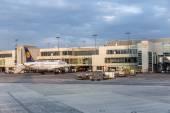 Passengers airplane decking — Stock Photo