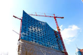 Construction site of the Elbphilharmonie in the port of Hamburg — Stock Photo