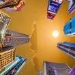 Times Square, featured with Broadway Theaters and huge number of — Stock Photo #64552773