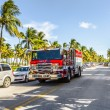 Fire brigade on duty in South Beach in Miami — Stock Photo #65107103