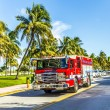 Fire brigade on duty in South Beach in Miami — Stock Photo #65107513