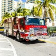 Fire brigade on duty in South Beach in Miami — Stock Photo #65108229
