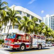 Fire brigade on duty in South Beach in Miami — Stock Photo #65109103