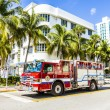 Fire brigade on duty in South Beach in Miami — Stock Photo #65109509