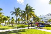 People relaxing at beautiful Miami Beach — Stockfoto