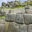 Sacsayhuaman, Incas ruins in the peruvian Andes at Cuzco Peru — Stock Photo #65553515