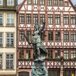 Justitia, a monument in Frankfurt, Germany — Stock Photo #65641241