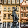 Justitia, a monument in Frankfurt, Germany — Stock Photo #65641269