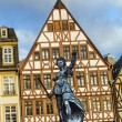 Justitia, a monument in Frankfurt, Germany — Stock Photo #65641535