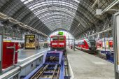 Inside the Frankfurt central station — Stock Photo