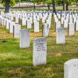 Headstones at the Arlington national Cemetery — Stock Photo #66857599