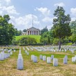 Headstones at the Arlington national Cemetery — Stock Photo #66857973