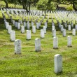 Headstones at the Arlington national Cemetery — Stock Photo #66858241