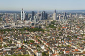 Panorama of Frankfurt — Stock Photo