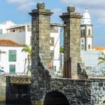 Sea view at Castle of San Gabriel and Arrrecife, Lanzarote, Cana — Stock Photo #68196407