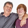 Father and son hugging — Stock Photo #68198495