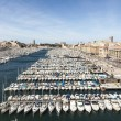 Aerial panoramic view on old port in Marseille  — Stock Photo #69822165