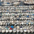 Aerial panoramic view on old port in Marseille — Stock Photo #69823037