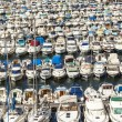 Aerial panoramic view on old port in Marseille — Stock Photo #69823765