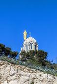 在马赛 Notre Dame de la 前卫 — 图库照片