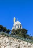 Notre Dame de la Garde Marsilya — Stok fotoğraf
