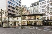 View of Zeil in early morning in Frankfurt — Stock Photo