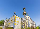 Tower of Garbage-processing plant in Vienna — Stock Photo