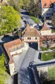 Rothenburg ob der Tauber, old Roeder city gate — Stock Photo